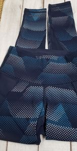 Athleta xxs blue geometric leggings